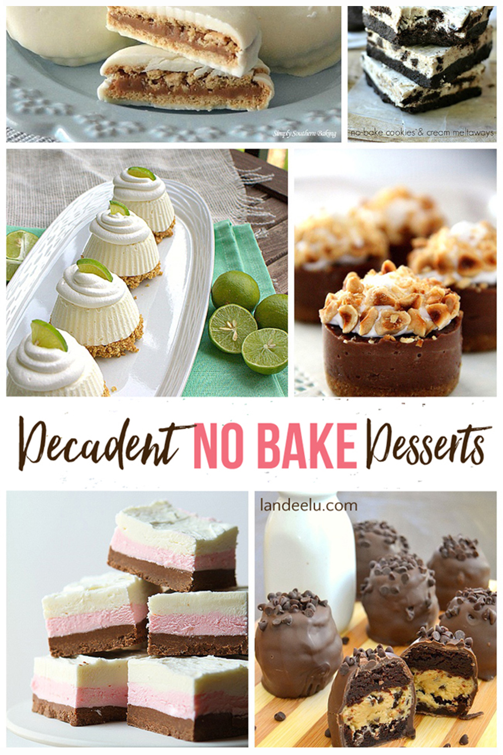 Delicious No Bake Dessert Recipes that are perfect when the weather starts warming up! #nobakedesserts #dessertrecipes #nobake #recipes