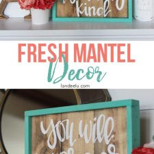 Fun and Fresh Mantel Decor