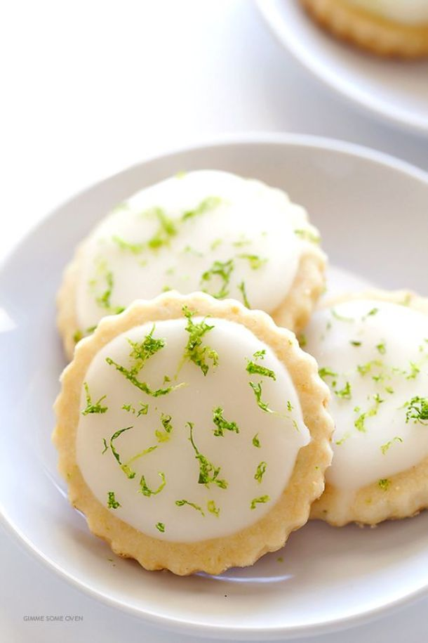 Shortbread Cookies - Coconut Lime Shortbread Cookies Recipe via Gimme Some Oven