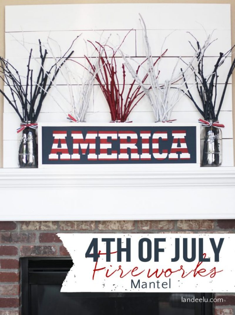 """Create """"fireworks"""" for your 4th of July mantel this Independence Day!"""