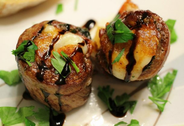 Beef Recipes - Italian Stuffed Flank Steak Recipe via The Chunky Chef