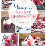 It's berry season! Grab your self some (either from the store or your garden!) and make some delicious raspberry, blueberry and strawberry desserts! #desserts #berrydesserts #strawberry #blueberry #patrioticdesserts