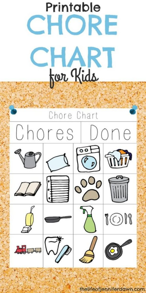 DIY Chore Charts - Chore Chart Illustrated Fridge Magnets - Easy System for Small Children via The Life of Jennifer