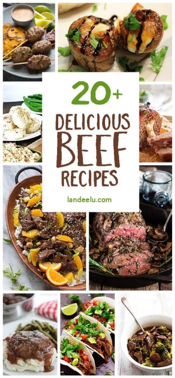 Over 20 Delicious Beef Recipes via landeelu.com