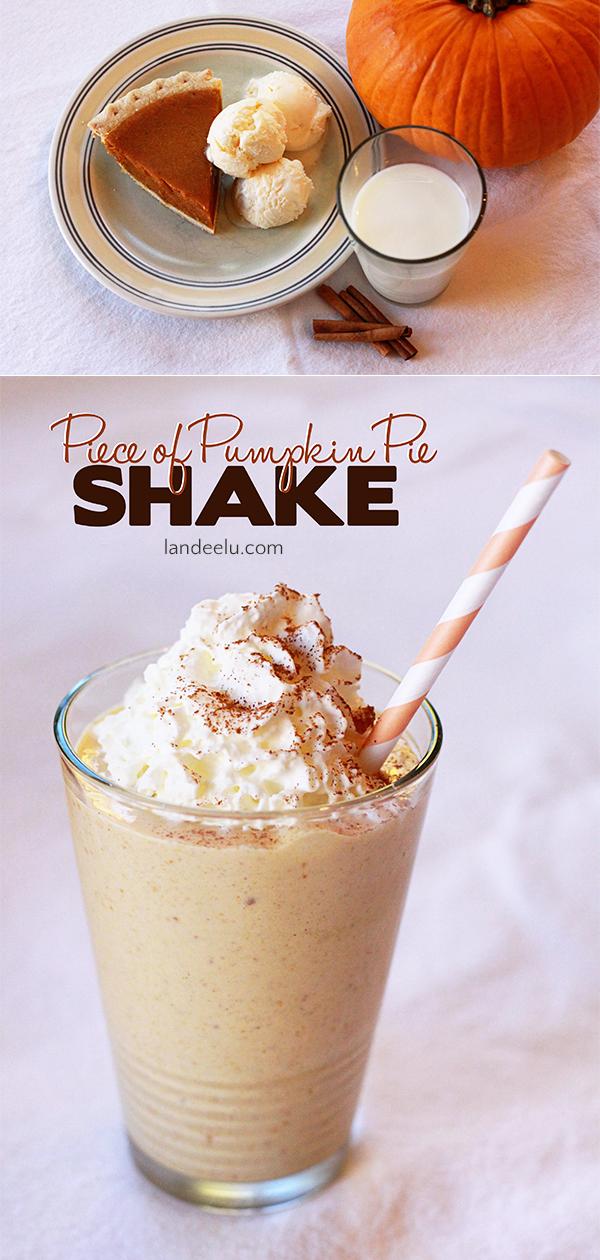 An easy and delicious shake recipe that anyone can make! Make that delicious pumpkin taste cool and refreshing! #shakerecipe #pumpkinpie #milkshake #blender