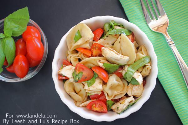 Caprese Tortellini Salad (1) LandeeLu