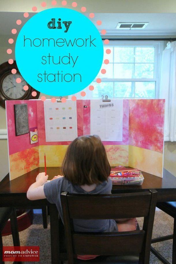 Diy Back To School Homework Stations Landeelu Com