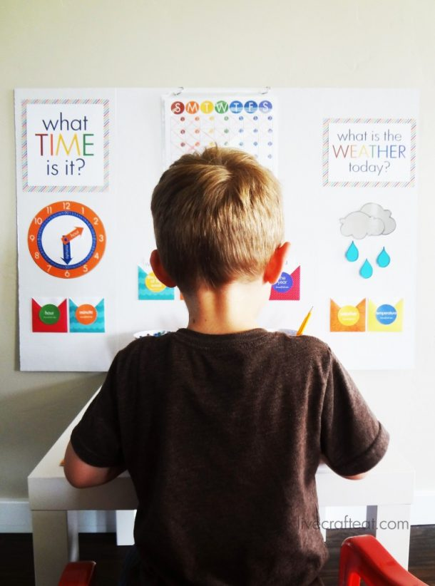 DIY Back to School Homework Station Ideas - Create a workstation with different sections full of fun activities so they learn that homework can be fun via Live Craft Eat