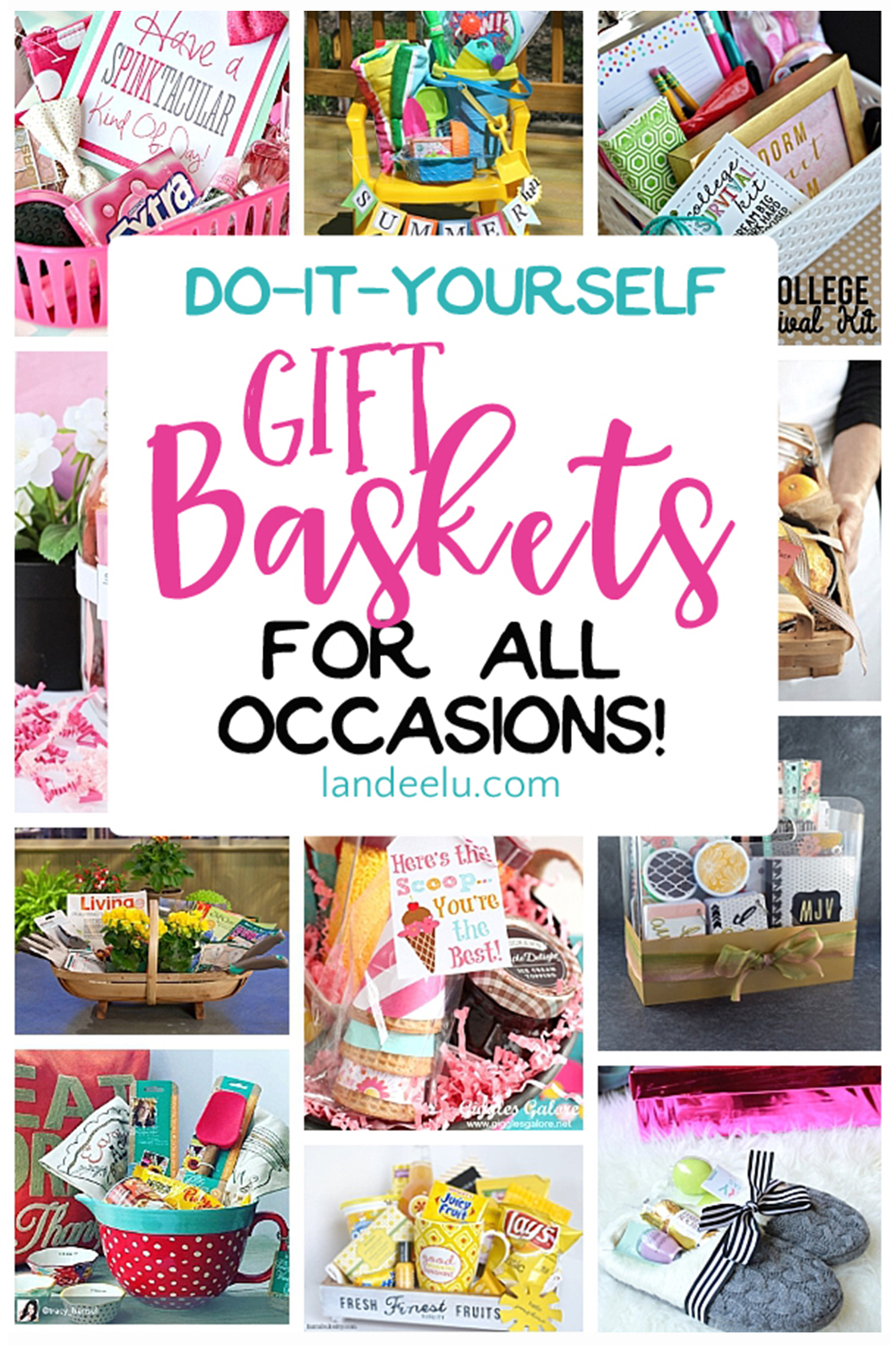 Put together a gift basket for any occasion and make someoneu0027s day! Easy do it  sc 1 st  Landeelu & Do it Yourself Gift Basket Ideas for All Occasions - landeelu.com