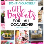 Put together a gift basket for any occasion and make someone's day! Easy do it yourself ideas! #DIYgiftbaskets #giftbaskets #giftideas #giftbasketideas