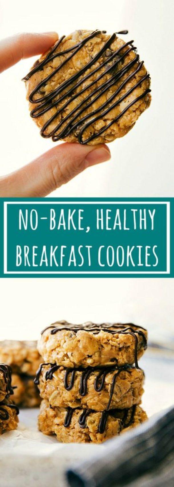 No Bake Cookies Recipes - No-Bake Healthy Breakfast Cookies Recipe via Chelseas Messy Apron