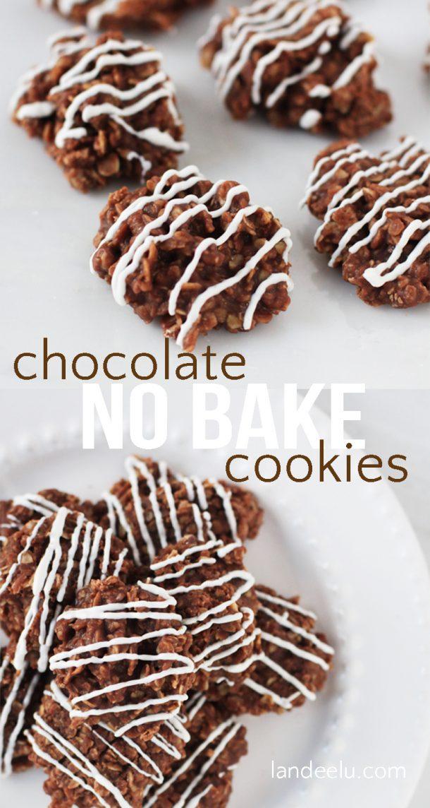 No Bake Cookies Recipes - The BEST Chocolate No Bake Cookies Recipe via Landeelu