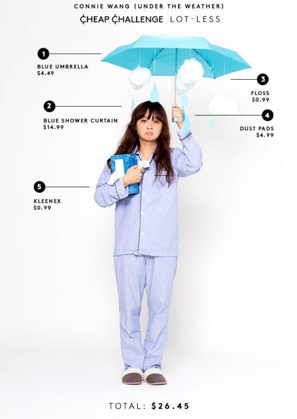 DIY Halloween Costumes Ideas - Under The Weather Cheap Costume Idea via Refinery 29