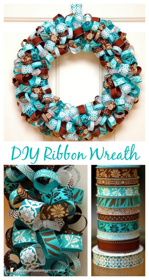 DIY projects ideas - Fall Wreaths - Easy Pretty Ribbon Wreath Tutorial via Sweet and Saving Grace