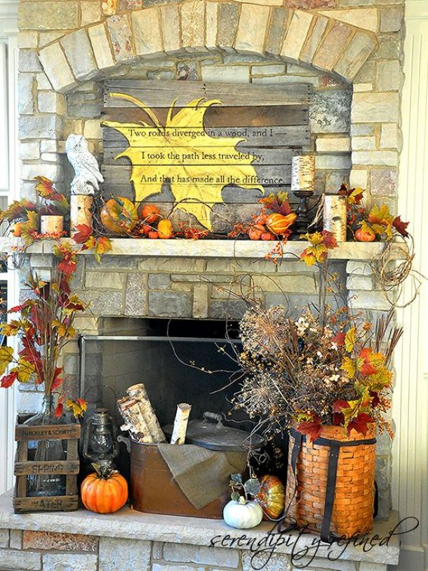Do It Yourself Home Decorating Ideas: DIY Fall Mantel Decor Ideas To Inspire!