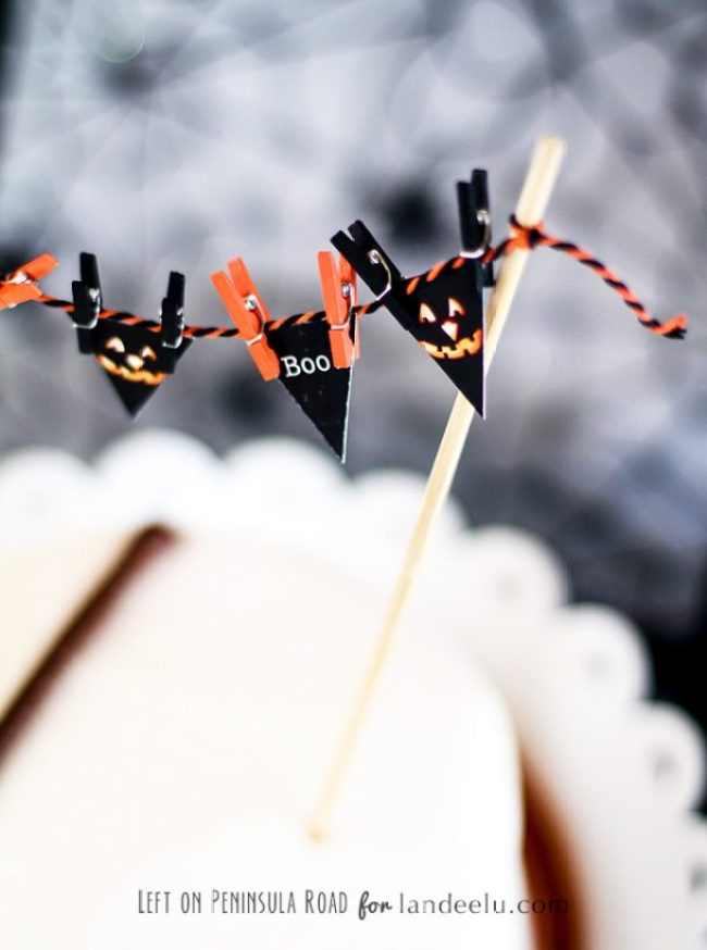 Printable Halloween Cake Topper