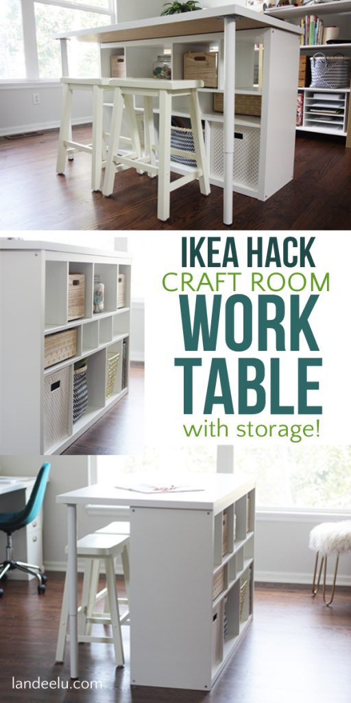 Picture of: Ikea Hack Craft Room Table An Easy Ikea Hack For Your Craft Room