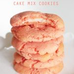 Easy strawberry cake mix cookies with a surprise cream cheese filling... YUM!