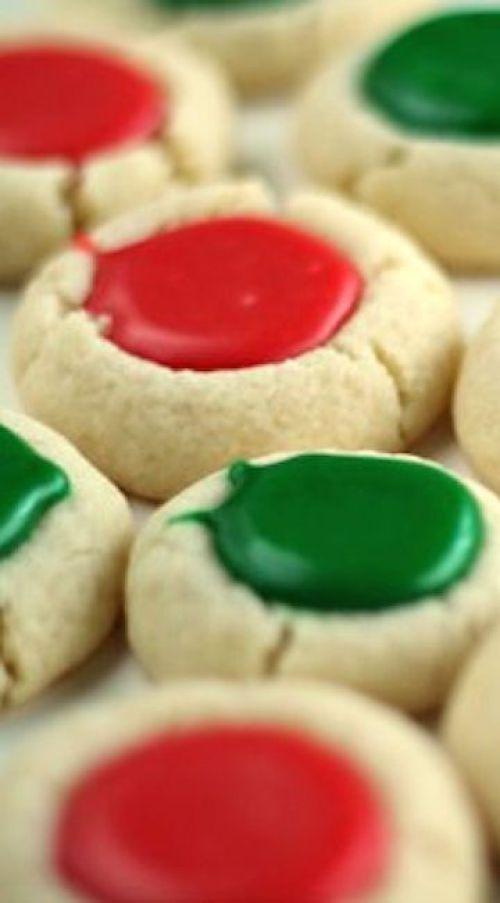 Christmas Thumbprint Cookies Recipe | lil' luna