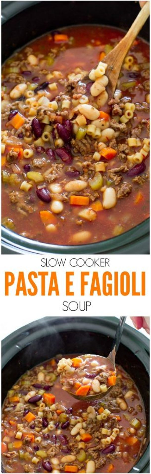 Slow Cooker Pasta e Fagioli Soup Recipe | The Recipe Critic