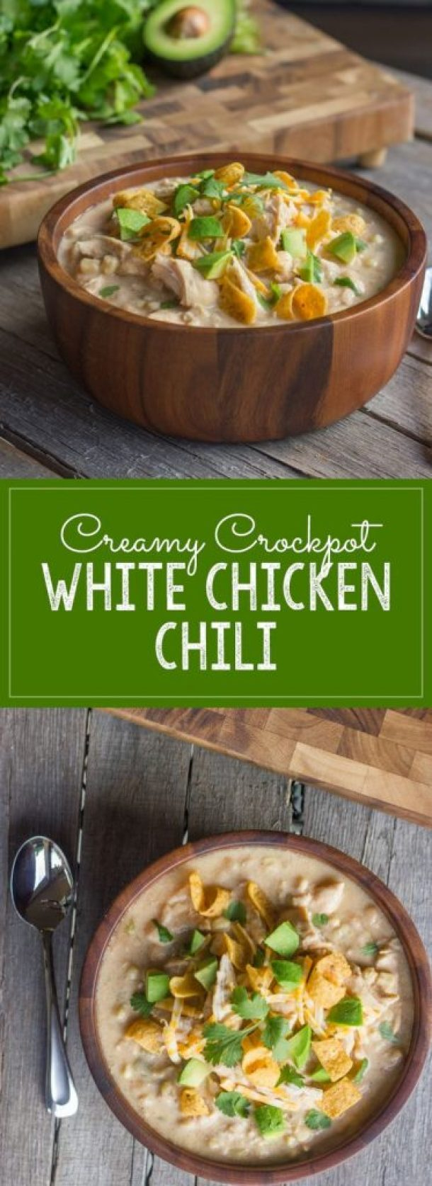 Creamy Crockpot White Chicken Chili Recipe | Lovely Little Kitchen