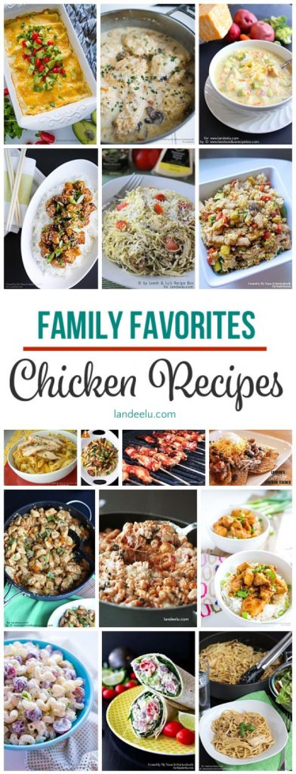 Our favorite chicken recipes all in one place! Perfect for families!