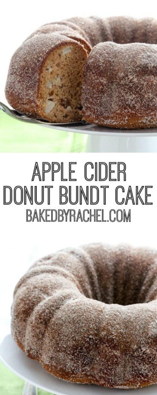 Moist Apple Cider Donut Bundt Cake Recipe | Baked By Rachel - Apple Recipes