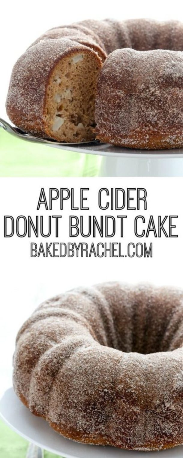 Moist Apple Cider Donut Bundt Cake Recipe | Baked By Rachel - Apple Recipes