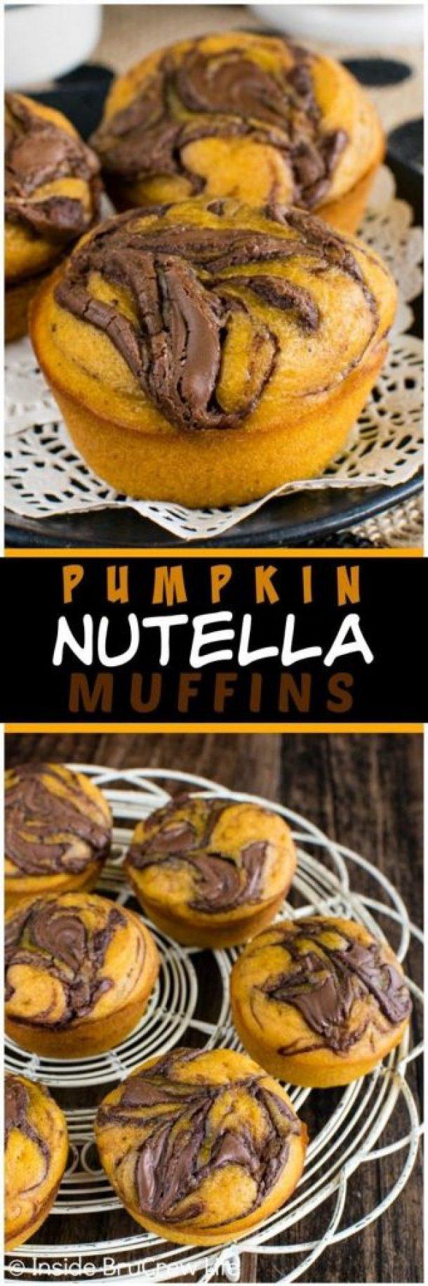 Pumpkin Nutella Muffins Recipe | Inside BruCrew Life