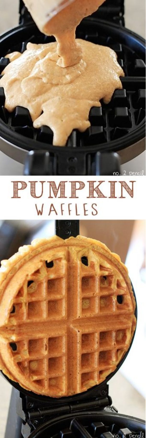 Pumpkin Waffles Recipe | No. 2 Pencil