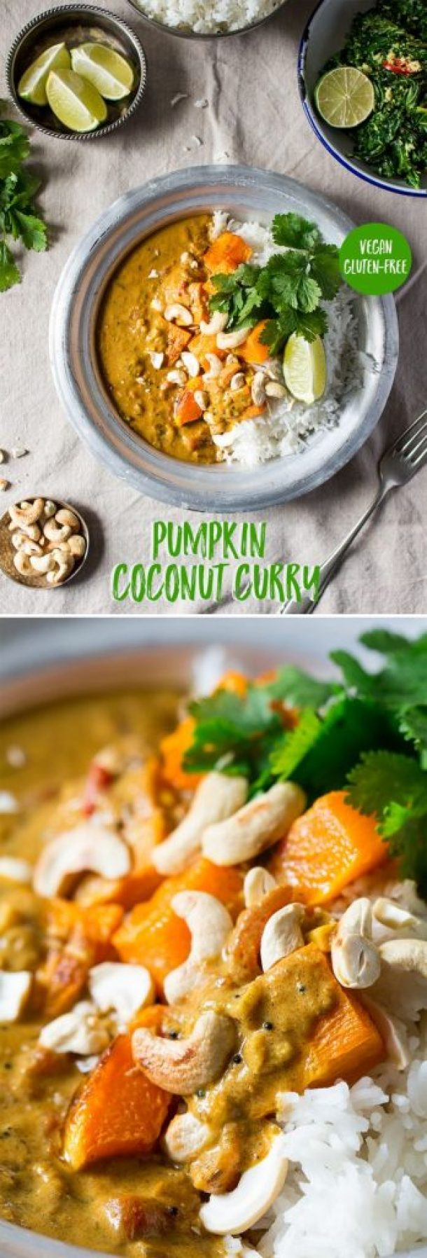 Vegan and Gluten Free Pumpkin Coconut Curry Recipe | Lazy Cat Kitchen