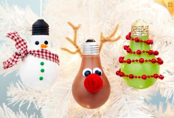 3 Adorable Light Bulb Ornament Tutorials! | P&G Everyday - Easy and Cheap DIY Christmas Tree Ornaments