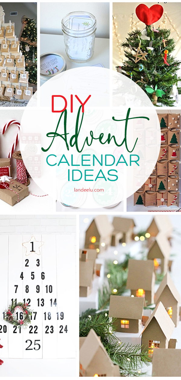 20 fun advent calendar ideas to countdown the days to Christmas! #adventcalendar #diyadventcalendars #christmascrafts #advent