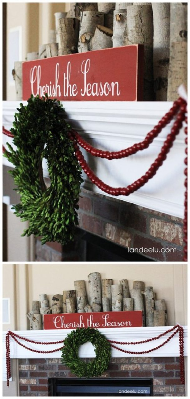 Cozy and Simple Christmas and Winter Mantel Inspiration and Ideas | Landeelu