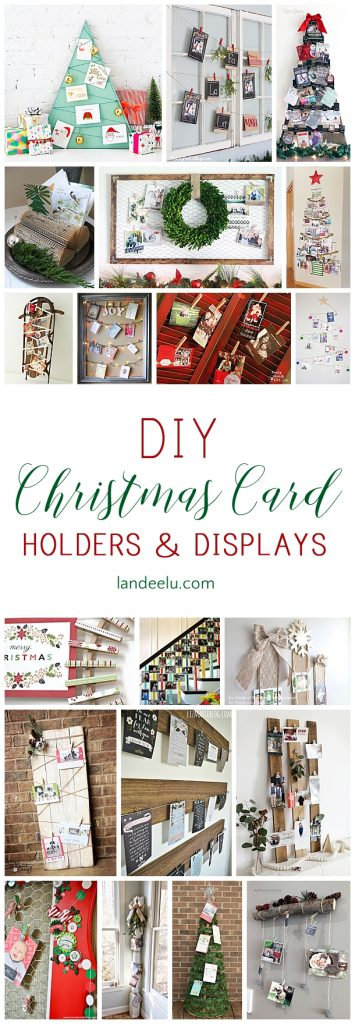 So Many Cute DIY Christmas Card Holders To Put Your Cards On Display! Love  The