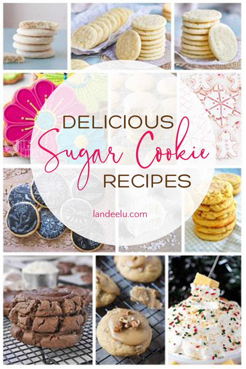 An amazing collection of the best sugar cookie recipes! Perfect for holidays or anytime! #sugarcookies #cookies #cookierecipes #sugarcookierecipes #baking
