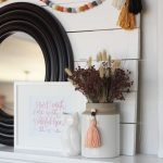 Fall Mantel: Fresh Color Palette