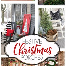 Festive Christmas Porch Ideas... so many inspiring Christmas porch decorating ideas! #outdoorchristmasdecor #christmas #christmasporch #christmasdecor #diychristmas