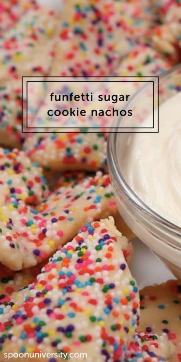 Epic Funfetti Sugar Cookie Dessert Nachos Recipe | Spoon University
