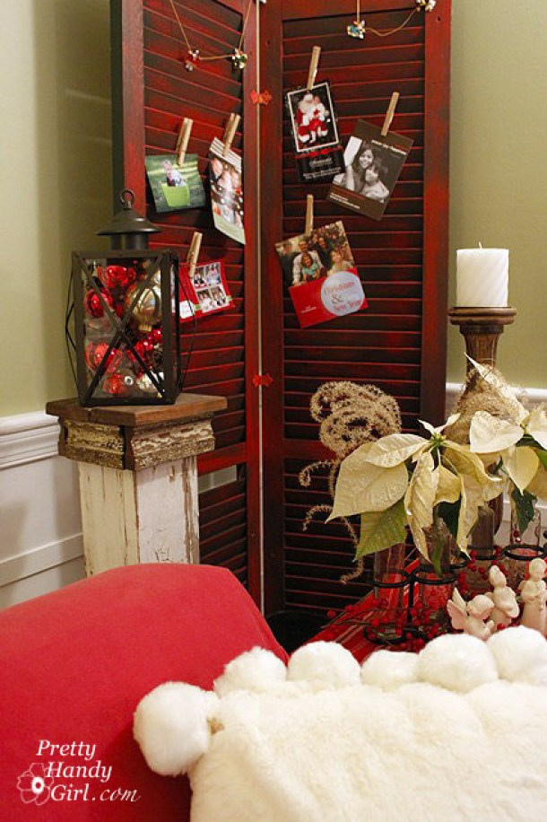 How to: Use Shutters for Displaying Christmas Cards | Pretty Handy Girl