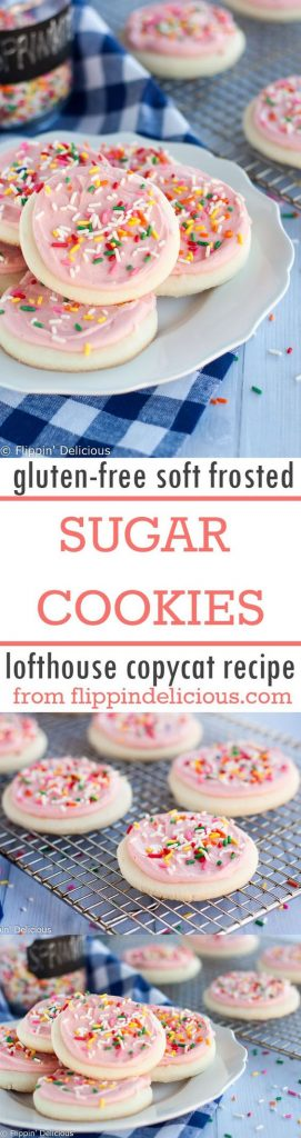 Lofthouse Copycat {Gluten Free!!!} Soft Frosted Sugar Cookies Recipe | Flippin Delicious
