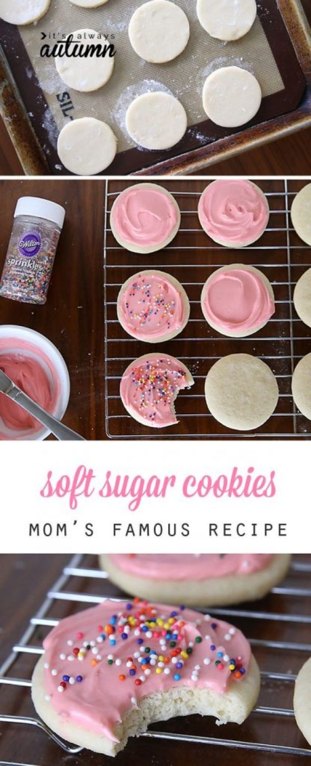 Mom's Favorite Soft Sugar Cookie plus Cream Cheese Frosting Recipe | It's Always Autumn