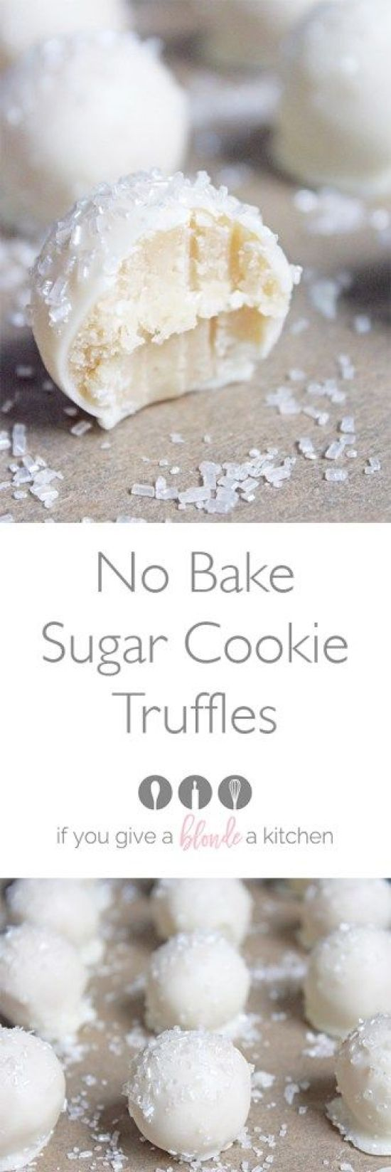 No Bake Sugar Cookie Truffles Recipe | If You Give a Blonde a Kitchen