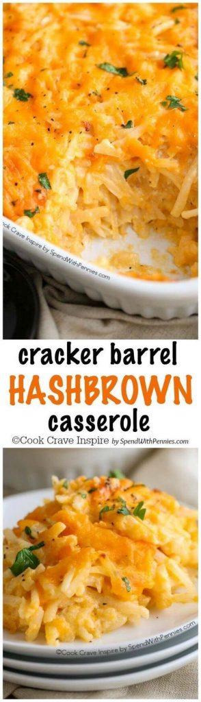 Copy Cat Cracker Barrel Hashbrown Breakfast Casserole Recipe | Spend With Pennies