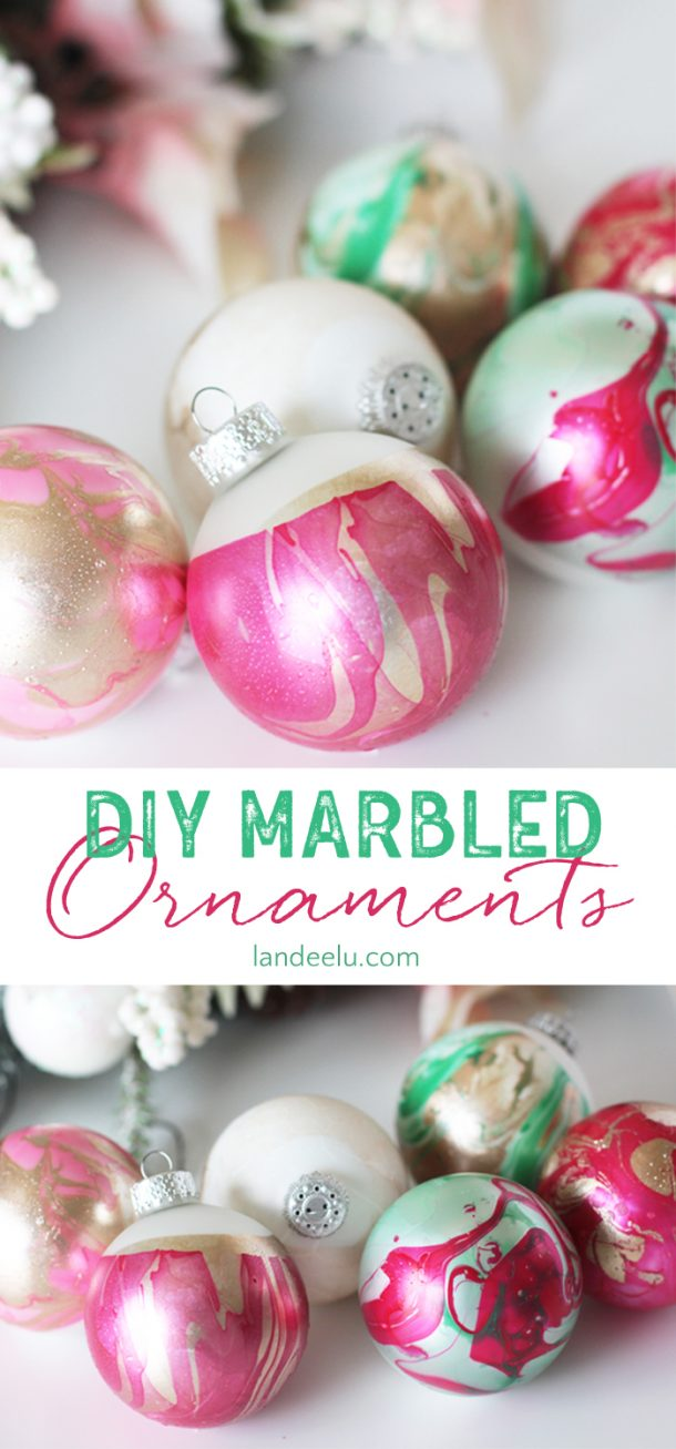 DIY Ornaments: Marbled Dipped Awesomeness - landeelu.com