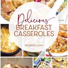 I LOVE breakfast casseroles! Makes hosting overnight guests so easy! #breakfastcasseroles #breakfastrecipes #easybreakfast #breakfastideas