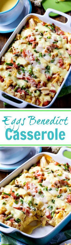 Eggs Benedict Breakfast Casserole Recipe | Spicy Southern Kitchen