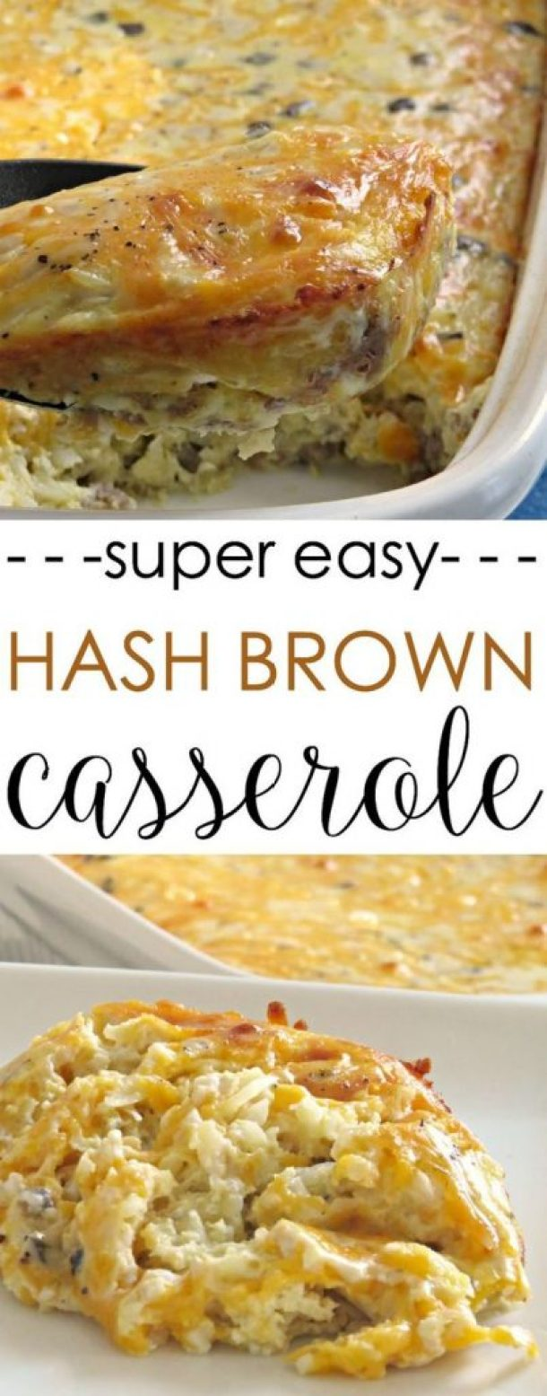 Super Easy {Make Ahead} Savory Hash Brown Breakfast Casserole Recipe | Written Reality