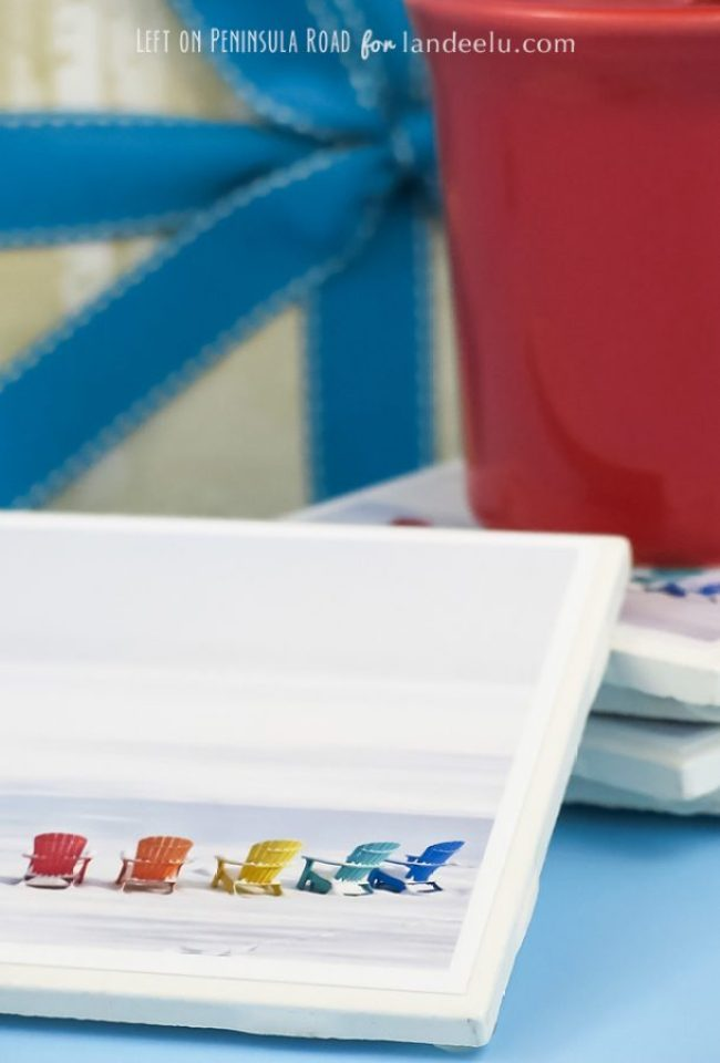 Make DIY photo coasters