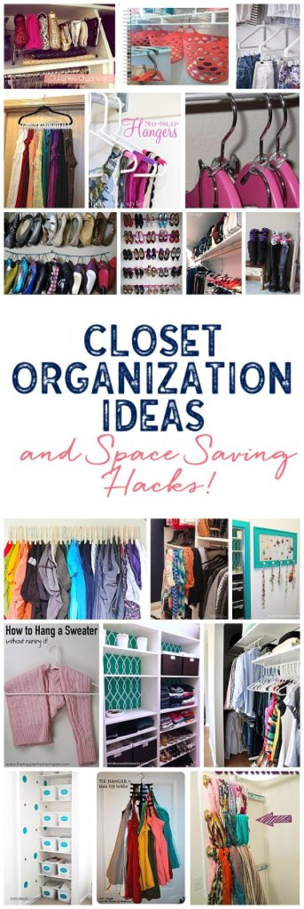 So many awesome closet organization ideas to make your closet the most functional space in the house! - Landeelu